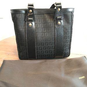 Fendi Black Small Tote Bag